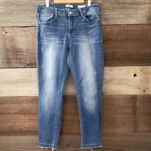 Kensie Washed Mid-Rise Effortless Ankle Jeans